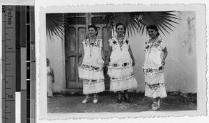 Yucatecan women in native Maya costume, Carrillo Puerto, Quintana Roo, Mexico, ca. 1947