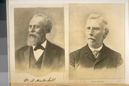 Mr. M. Mendenhall. Robert Kellogg. Early res. of Alameda Co