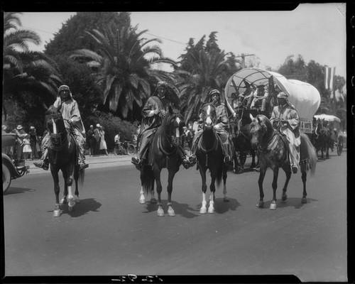 Calisphere Horseback Riders In Arab Style Dress Santa Monica