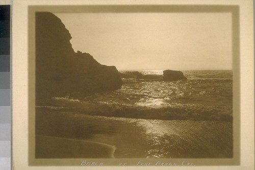Beach at Fort Bragg, Cal. [California]