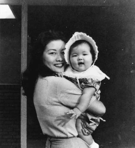 Patti Hirahara With Mother, Anaheim [graphic]