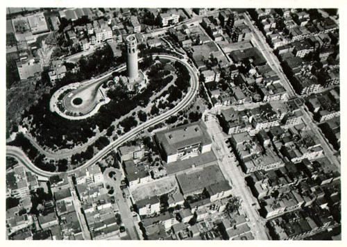 [Aerial view of Telegraph Hill]