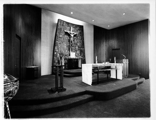 Interior of Holy Spirit Church, Santa Rosa, California, 1967