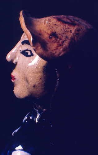 Painted sculpture, San Basilio de Palenque, 1976
