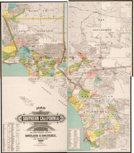 Map of a Part of Southern California : accurately compiled from Plats of U. S. Land Surveys, County Records and other reliable sources