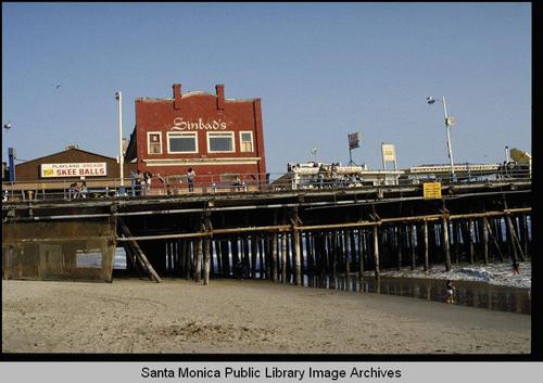 Calisphere Sinbads Restaurant Santa Monica Pier