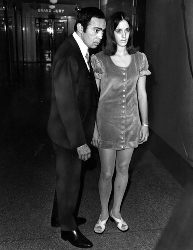 Susan Atkins with attorney Richard Caballero