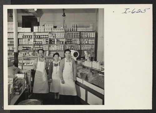 Fred Toguri, owner, June Toguri, his sister, who helps him in the store, and Masachi Hori, who is employed by