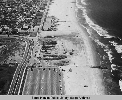Looking south from the remains of the Pacific Ocean Park Pier, Santa Monica, May 1, 1975, 1:00 PM