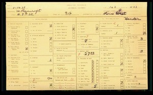 WPA household census for 914 W 9TH ST, Los Angeles