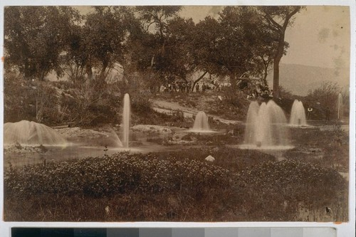 Artesian Wells, San Bernardino, Calif. Supplying the Gage Canal of Riverside. H.B. Wesner photo. San Bernardino