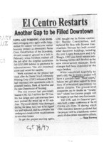 El Centro restarts; another Gap to be filled downtown