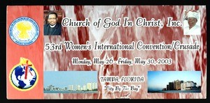Annual Women's International Convention, COGIC (53rd: 2003), flier