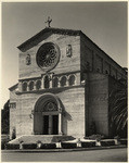 [Exterior full front view Church of Precious Blood, 435 South Occidental Boulevard, Los Angeles]