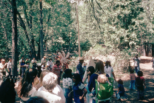 Scene from the Yosemite Indian Festival--1974