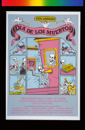 19th Annual Dia de los Muertos, Announcement poster for