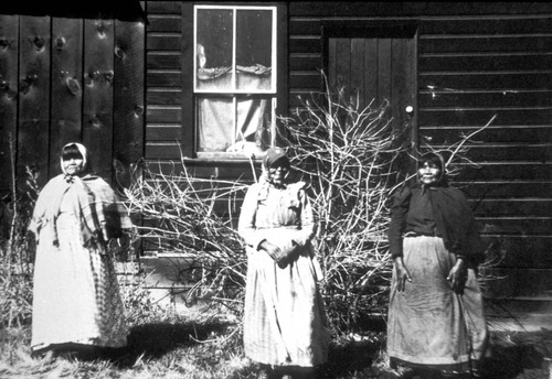 Portrait of three women--Celie, Piney (Fanny), and Louise