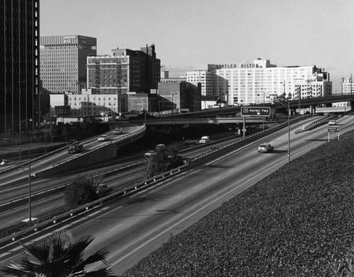 Harbor Freeway with 6th Street on-ramps