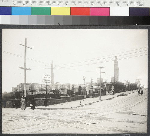 California & Powell Streets. [Ruined grounds of Mark Hopkins Institute of Art, Nob Hill.]