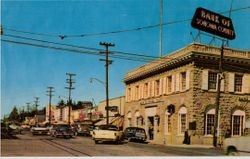 Downtown Sebastopol looking at northeast corner of Main Street, about 1950s