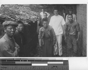 Dr. Blaber with patients at Leprosarium at Jiangmen, China, 1935