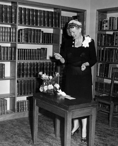 Dr. Elta Pfister at the Old Central Library