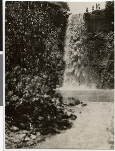 Waterfall of a tributary of the Guder River near Ambo, Ethiopia, 1928-12