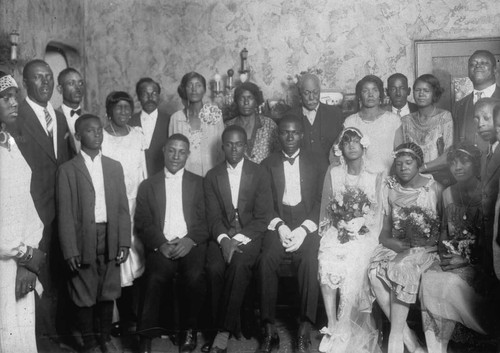Wedding of David and Essie Martin Green, [graphic]