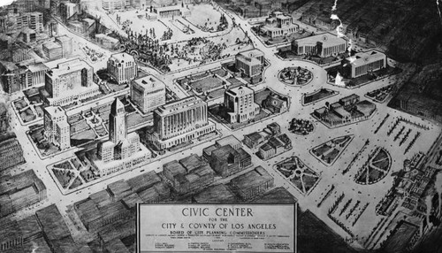 Plan for the Los Angeles civic center, 1933