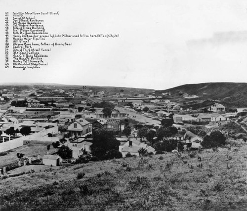 Early Los Angeles panorama