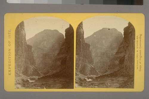 The mouth of Kanab Creek.--Photographer: Wm. Bell--Photographer's number: 10--Photographer's series: Expedition of 1872