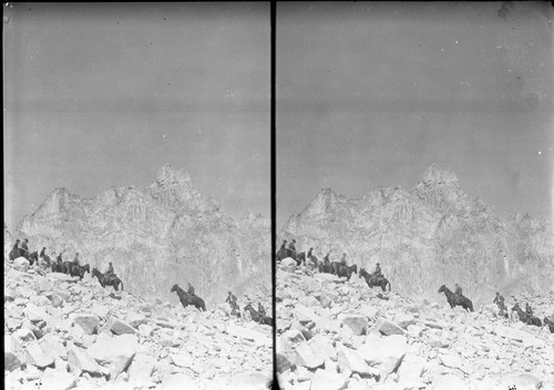 1930 ; Mt. Whitney ; Negatives ; SEKI ; Sequoia National Park ; Stereograph ; Summit ; Unknown ; ceremony ; dedication ; horses ; stock use