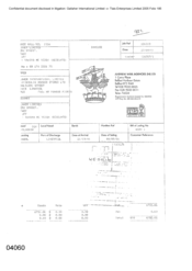 [ An Invoice from Galleher International Limited to Andrew Weir Agencies (NI) Ltd]