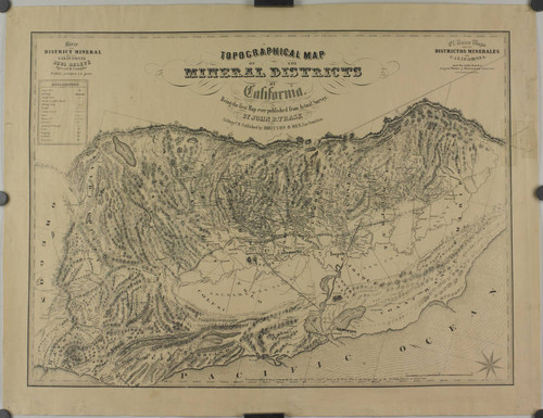 Calisphere: Topographical map of the mineral districts of California ...