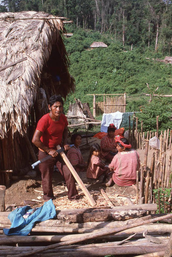 Guatemalan refugees at work, Ixcán, ca. 1983