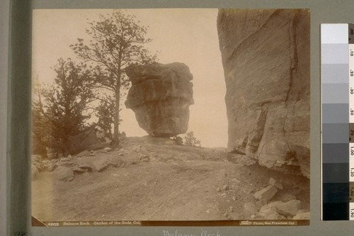 Balance Rock. Garden of the Gods, Col. [Colorado]. 4903. [Photograph by Isaiah West Taber.]