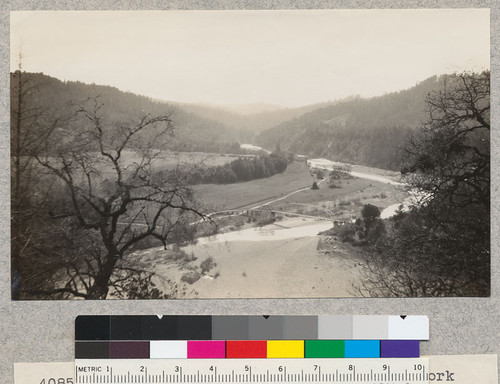 Redwood Region. A view of the south fork of Eel River from a point on the Redwood Highway, about 1 mile south of Garberville. March 1929, E.F