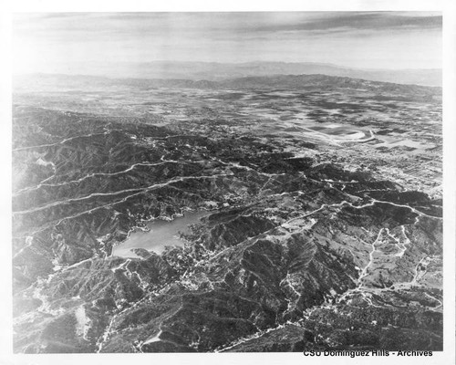 Northwest across Santa Monica Mountains to San Fernando Valley