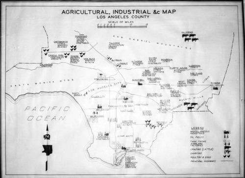 Agricultural and industrial map, Los Angeles County