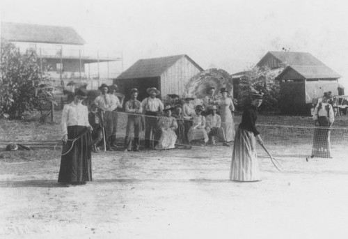 Tennis Court at Laguna Beach in the early 1880s