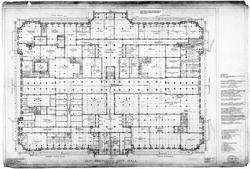Calisphere ground floor plan san francisco city hall drawing no 7 ground floor plan san francisco city hall drawing no 7 malvernweather
