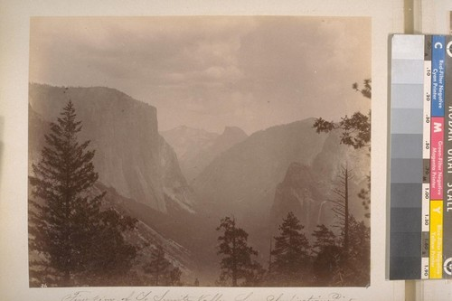 First view of Yo Semite [i.e. Yosemite] Valley from Inspiration Point (Mariposa Co.). [No.] 36