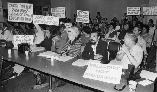 Protest of forced busing for school desegregation