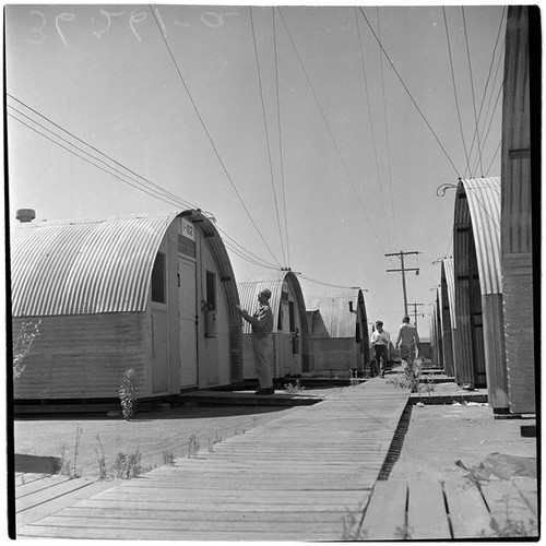 Military Surplus Quonset Huts For Sale >> Calisphere Veterans At Port Hueneme For A Quonset Hut And
