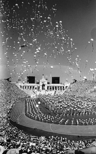 Opening day ceremonies at the Coliseum