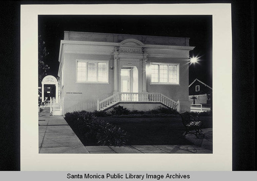 Ocean Park Branch Library, 2601 Main Street, Santa Monica, Calif., opened in 1918