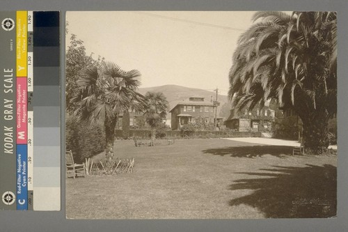 [Yard. Unidentified residence. Berkeley?]