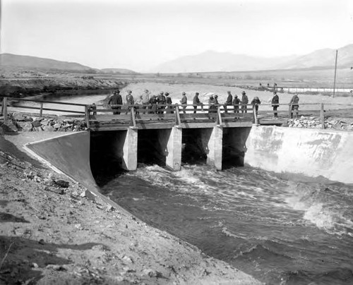 Opening of Control Gates on Los Angeles Owens River Aqueduct