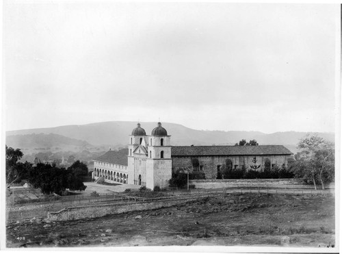 Santa Barbara Mission, general view from East