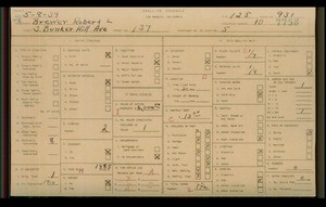 WPA household census for 137 S BUNKER HILL, Los Angeles